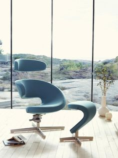 Peel chair from Varier Furniture - Scandinavian design. The aqua is lovely, too.