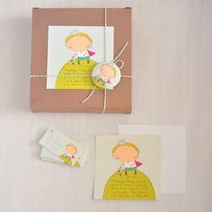 Image of pack 20 invitaciones/recordatorios principito + 30 tarjetitas para regalo. Comunión.