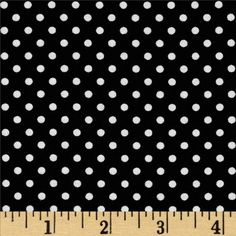 $8.98/yd. Moda Dottie Small Dots Jet Black from @fabricdotcom  From Moda, this cotton print is perfect for quilting, apparel and home decor accents.  Colors include white and black.