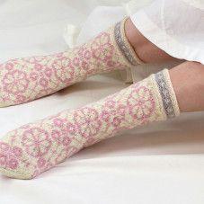 ROOSA NAUHA/Red ribbon socks