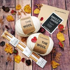 Beginner levelThe kit contains:* 2 Skeins of Wool gr).* 15 mm / US 19 wooden knitting needles.* The pattern* A Small Knitter's sewing needle* The embroidered label* WAK PackagingImage color: Spotted GreyFor each special yarn color (conf Wooden Knitting Needles, Knitting Kits, Big Wool, Chunky Wool, Yarn Colors, Autumn, Fall, Knitwear, Fall Season
