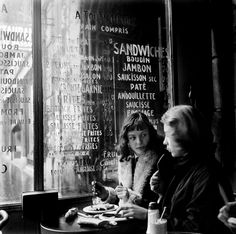 Vintage tips: Life, style and fashion • ed van der elsken • 1950s • 1954 • Paris • France • cafe • women — onlyoldphotography: Ed van der Elsken : Cafe...