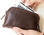Handmade leather wallets, etc
