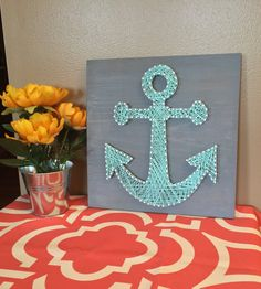 Anchor String Art by RhapsodyCrafts on Etsy