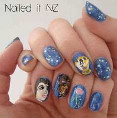 disney nail art | Nailed It NZ: Disney nail art #2: Beauty and the ... | Tips to Toes