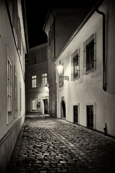 Streets of Prague - Silver Art Print - Czech Republic - Fine Art Photography - Wall Art Prague Czech Republic, Black And White Wall Art, Beautiful Places In The World, Travel Scrapbook, City Streets, Fine Art Photography, Melbourne, Scenery, Around The Worlds