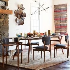 Room To Grow Bring The Beauty Of Beveled Edges Shapely Solid Wood Legs And Mid Century Design Dining With This Expandable Table