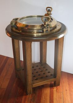 Just Wow! Another handsome nautical furniture creation by #Annapolis #Maritime #Antiques.