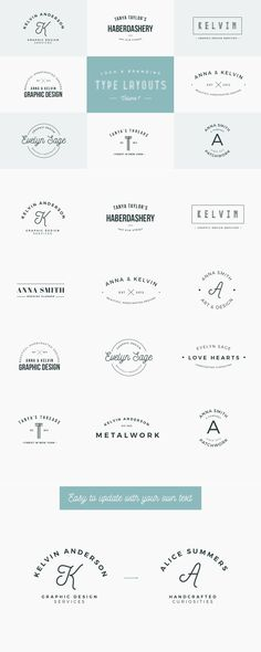 Logo & Branding Type Layouts