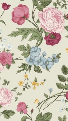 flowers and wallpaper image on We Heart It