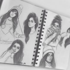 Image via We Heart It #art #drawing #girl #winter