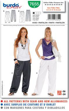 Burda easy 7655 (pantalon)
