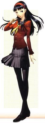Yukiko Amagi is the ideal well-mannered Japanese girl, but she resents it. She wants to escape the duty her family has placed on her to become the next keeper of the Amagi Inn, but she realizes her true passion is really the people at the inn. She uses strong fire and healing magic. She's shy and will only confide in Chie at first, but it doesn't take long for the team to get her smiling and laughing with them.