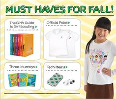 Autumn is in full swing!  No need to fall back on style.  Check out the latest crop of must-haves from the GSU Shop. @Girl Scouts #icantwait