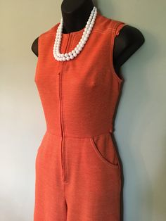 Vintage 70's women's sleeveless zip-front by DynamiteDudsVintage