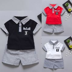Comprar Fashion Toddler Kids Baby Boy Letter Printed Tops+Striped Shorts Clothes Set em Wish - Comprar ficou mais divertido Boys Summer Outfits, Baby Boy Outfits, Kids Outfits, Baby Boy Fashion, Toddler Fashion, Kids Fashion, Baby Girl Shirts, Shirts For Girls, Terno Casual