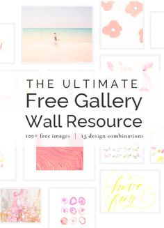 The Ultimate Gallery Wall Resource - 15 gallery wall combinations of free printables
