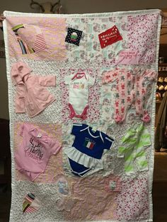82bfffb06 DIY Memory Quilt Custom Made w baby clothes ~~ awesome idea for all ...