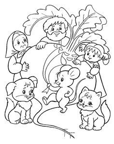 Мышка помогла вытянуть репку - раскраска №379 Fall Coloring Pages, Free Coloring, Adult Coloring, Coloring Books, Sequencing Pictures, Color Stories, Conte, Drawing For Kids, Pictures To Draw