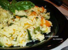Cinco sentidos na cozinha: Arroz de courgette e cenoura