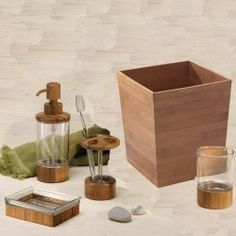 Formbu Bamboo Bathroom Accessory Collection by Interdesign