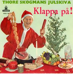 """Swedish Christmas record album (""""Clap On"""" or thereabouts).  A Very Meaty Christmas."""