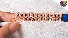 تعليم راندة خفيفة جلابة صيفية مع خديجة Medieval Embroidery, Hardanger Embroidery, Hand Embroidery Stitches, Crochet Stitches, Love Couture, Tatting Jewelry, Point Lace, Needle Lace, Lace Making
