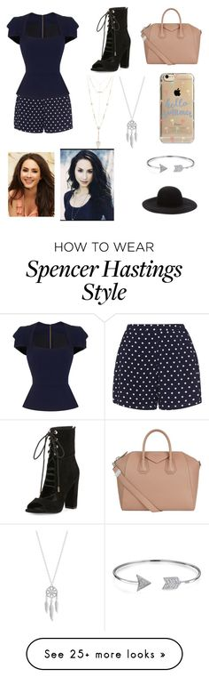 """""""Get The Look: Pretty Little Liars Spencer Hastings"""" by jumpingjb on Polyvore featuring Zizzi, Roland Mouret, Kendall + Kylie, Givenchy, Lucky Brand, House of Harlow 1960, Bling Jewelry, Agent 18 and Forever 21"""