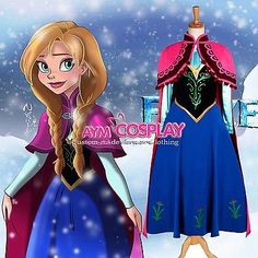 Disney+Frozen+-+Anna+dress+Movie+Costume+cosplay++G1224+