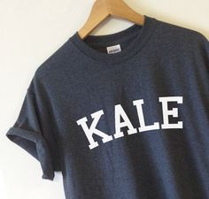 KALE T-shirt High Quality SCREEN PRINT for Retail Quality Print Soft unisex Ladies Sizes. Worldwide Shipping S-2xl Vegetarian Organic by Tmeprinting on Etsy https://www.etsy.com/listing/220507735/kale-t-shirt-high-quality-screen-print