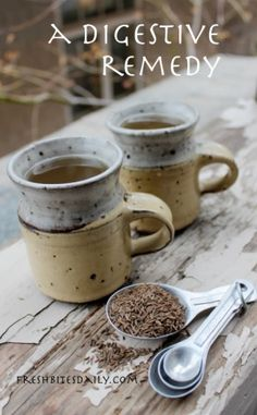 2 teaspoons of caraway seed for a cup of tea.