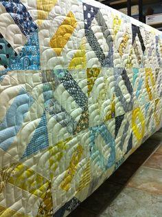 Angela's cracker scrap quilt by lolablueocean, via Flickr