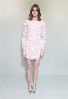 596988c5546 Vintage+1960 s+Premium+Pink+Lace+Prom+Mini+Dress Robe