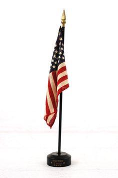 "Washington State w// USA America American Flag 4/""x6/"" Desk Set Black Base"