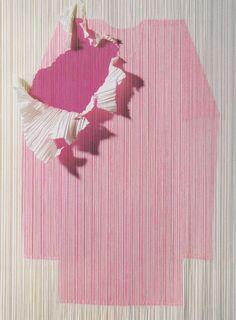 Issey Miyake 'Pleats Please' pink shirt, photographed by Kazumi Kurigami