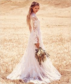 New @freepeople Wedding Dress collection. See all the dresses here http://www.weddingchicks.com/free-people-fpeverafter-bridal-collection/