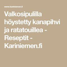 Valkosipulilla höystetty kanapihvi ja ratatouillea - Reseptit - Kariniemen.fi Ratatouille, Red Peppers