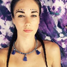 Choker/ Tassel Necklace/ Tassel Choker/ Aztec by ChainsByLauren