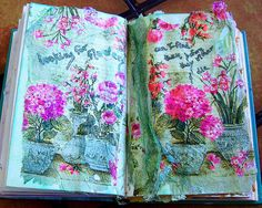 #ArtJournal page by windy angels-flickr