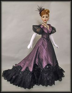"""OOAK Victorian Fashion by WS Fits 18"""" Kitty Collier by Tonner Co 