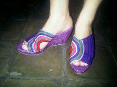 Crochett Shoes #Rainbow $50