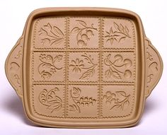 Flowers and Berries Shortbread Pan: Made in the USA | Emerson Creek Pottery
