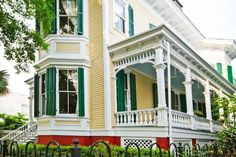HGTV Victorian Mansion REF: 1017, Historic District in Savannah Georgia.  Was fetured on featured on HGTV's House Hunters, fully embrace Old Savannah's 1890′s Promenade. The blue color on the porch meant to keep away evil spirits.