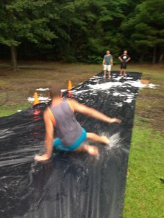 Youth group wet and wild messy game night. Great summer activity for church…