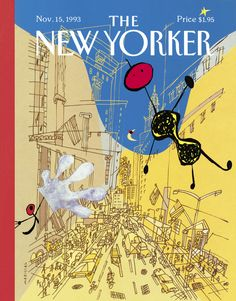 """The New Yorker - Monday, November 15, 1993 - Issue # 3585 - Vol. 69 - N° 38 - Cover """"Miro in the City"""" by Javier Mariscal"""