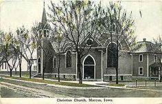 Marcus Iowa IA 1912 Christian Church Collectible Antique Vintage Postcard