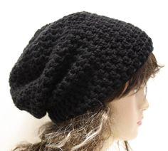 7db8f6ea33a Crochet Slouchy Beanie Slouch Hat Men or Women