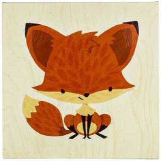 Finally bought this Fox Canvas Wall Art @Hobby Lobby for baby boy nursery!