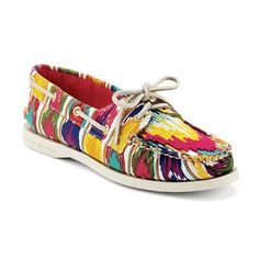 Sperry Top-Sider Cloud Logo Authentic Original 2-Eye Boat Shoe #VonMaur #Sperry #Multicolor #Bold #Statement #Colorful
