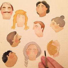 April Project: Day 27! Today I started an experiment page of heads. I'm working…